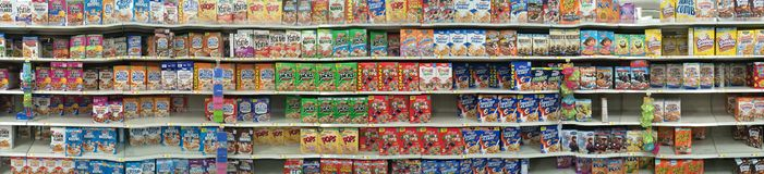 Cereal Boxes Royalty Free Stock Images