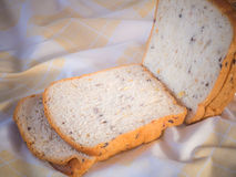 Cereal bread in the morning . Royalty Free Stock Image