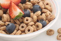 Cereal breakfast. Cereal berry blueberry strawberry snack organic healthy food Royalty Free Stock Images