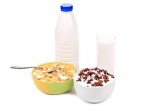 Cereal breakfast for kids. Stock Photography