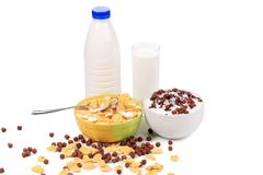 Cereal breakfast for kids. Royalty Free Stock Images