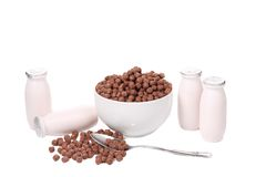 Cereal breakfast for kids. Stock Image