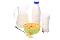 Cereal breakfast for kids. Stock Photo