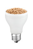 Cereal breakfast lightbulb Royalty Free Stock Image