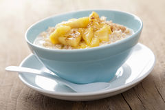 Cereal with caramelized apple Stock Photo