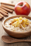 Cereal with caramelized apple. Oatmeal cereal with caramelized apple Stock Images