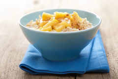 Cereal with caramelized apple Stock Photos