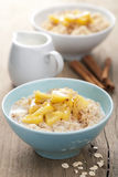 Cereal with caramelized apple Royalty Free Stock Images