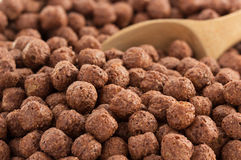 Cereal chocolate balls as background Royalty Free Stock Photos