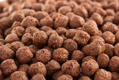 Cereal chocolate balls as background Royalty Free Stock Photography