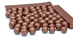 Cereal chocolate balls and bars Stock Images
