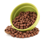 Cereal chocolate balls in bowl Royalty Free Stock Photo