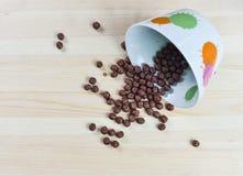 Cereal chocolate balls milk braun Stock Photo