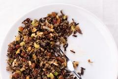 Cereal cocinado del arroz salvaje Fotografía de archivo libre de regalías