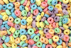 Cereal colorido Fotos de archivo