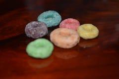 Cereal colorido del círculo imagenes de archivo