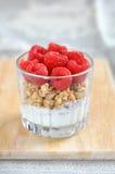 Cereal com framboesa fresca Imagens de Stock