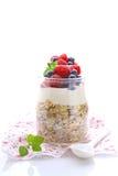Cereal com iogurte e bagas Foto de Stock Royalty Free