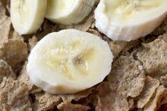 Cereal con los plátanos Fotografía de archivo