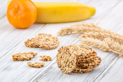 Cereal cookies with raisins and nuts Royalty Free Stock Image