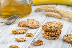 Cereal cookies with raisins and nuts Royalty Free Stock Photo