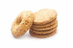 Cereal cookies  on white background Royalty Free Stock Photos