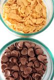 Cereal Corn And Choco Flakes Royalty Free Stock Image
