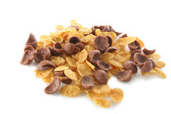 Cereal corn and choco flakes Stock Photo