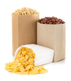 Cereal corn mix in paper bag Stock Photo