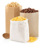 Cereal corn mix in paper bag Royalty Free Stock Image