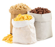 Cereal corn mix in paper bag Stock Image