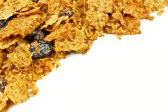 Cereal corner border Royalty Free Stock Photography