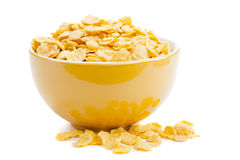 Cereal cornflakes in a bowl Stock Images