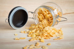 cereal cornflakes spilling out Stock Photos