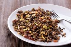 Cereal cozinhado do arroz selvagem imagens de stock