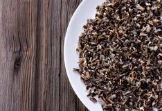 Cereal cozinhado do arroz selvagem imagem de stock