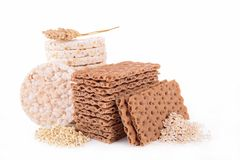 Cereal cracker and crispy bread Royalty Free Stock Photo