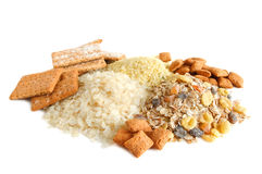 Cereal, cracker and muesli Royalty Free Stock Images