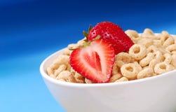 Cereal da aveia com morangos Imagem de Stock Royalty Free