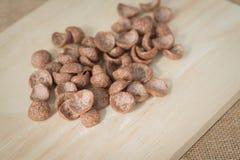 Cereal de desayuno del chocolate Fotografía de archivo