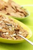Cereal de desayuno en placas imagen de archivo libre de regalías