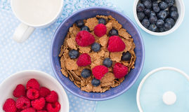 Cereal de desayuno sano Fotos de archivo