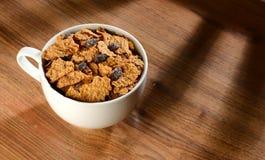 Cereal de la marca de la pasa imagen de archivo