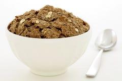 Cereal de las escamas de salvado de trigo con la avena rodada Imagen de archivo libre de regalías