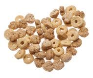 Cereal de pequeno almoço com formas do coração Imagens de Stock Royalty Free