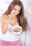Cereal de pequeno almoço do Granola Fotografia de Stock