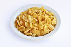 Cereal de pequeno almoço dos flocos de milho Imagem de Stock