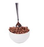 Cereal del chocolate de la avena Foto de archivo