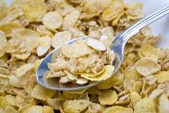 Cereal del copo de maíz de la almendra Imagen de archivo
