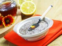 Cereal del lino con la miel y el limón Foto de archivo